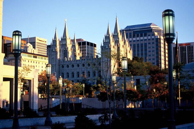 Salt Lake Temple with Skyline