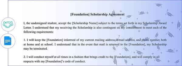 Scholarship-Agreement-Templates