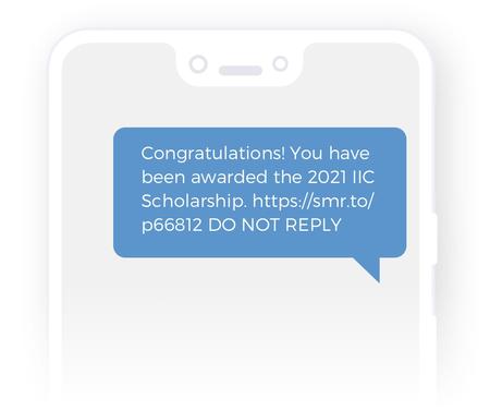 Scholarship-award-message